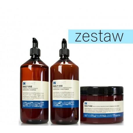 Insight Daily Use Energetyzujący Zestaw do Codziennej Pielęgnacji Włosów Szampon 900ml Odżywka 900ml Maska 500ml