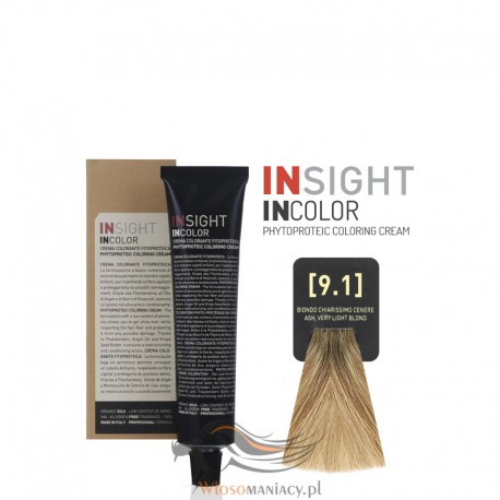Insight 9.1 Ash Very Light Blond Krem Koloryzujący 60ml
