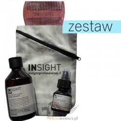 Insight Man Zestaw Brodacza Płyn do Mycia Brody + Odżywczy Olejek + Grzebień + Torba Zapinana