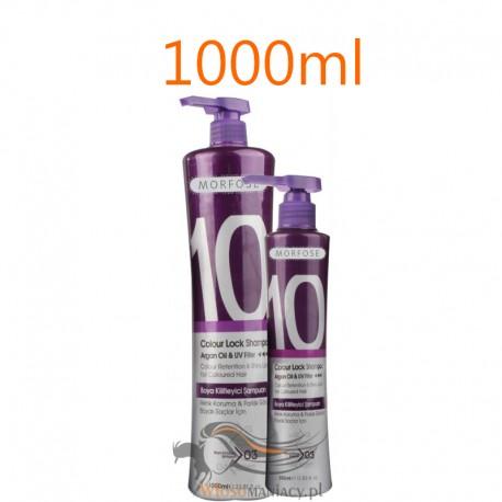 Morfose 10 Szampon Colour Lock do Włosów Farbowanych Ochrona Koloru 1000 ml