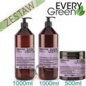 Every Green DAMAGED HAIR Odbudowa Zniszczonych Włosów Zestaw Promocyjny Szampon 1000ml Odżywka 1000ml Maska 500ml