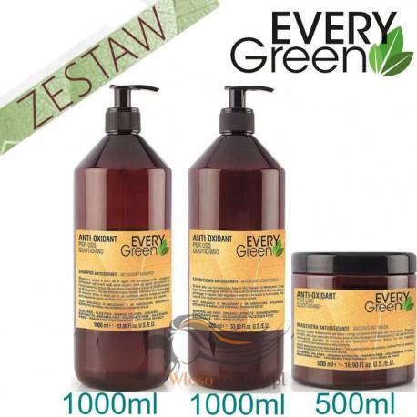 Every Green ANTIOXIDANT Codzienna Pielęgnacja Zestaw Promocyjny Szampon 1000ml Odżywka 1000ml Maska 500ml