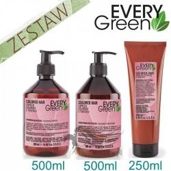 Every Green COLORED HAIR Włosy Farbowane Ochrona Koloru Zestaw Promocyjny Szampon 500ml Odżywka 500ml Maska 250ml